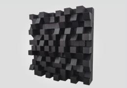 SONITUS • DIFFUSERS Bigfusor   ( 60x60x16cm/1,08m2), BLACK -3ks /bal