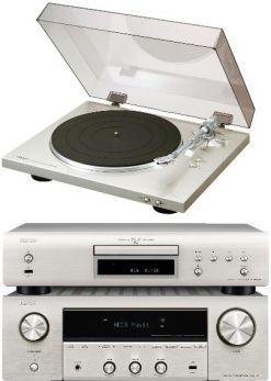 Denon DRA800H + DCD600 + DP300F silver