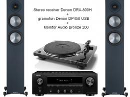 Denon DRA800H+DP450USB+ Monitor Audio Bronze 200